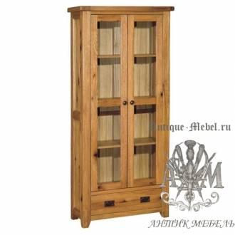 Шкаф-витрина из массива дерева натурального дуба №4