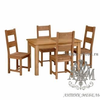 Столовый набор мебели из массива дерева натурального дуба №3