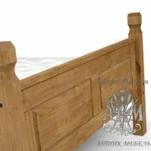Кровать для спальни из массива дерева натурального дуба №1