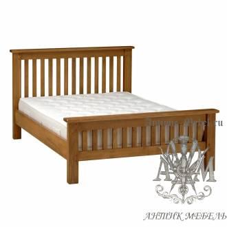 Кровать для спальни из массива дерева натурального дуба №3