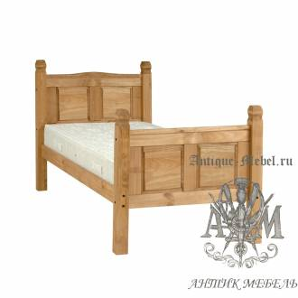 Кровать для спальни из массива дерева натурального дуба №4