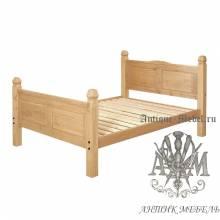 Кровать для спальни из массива дерева натурального дуба №5