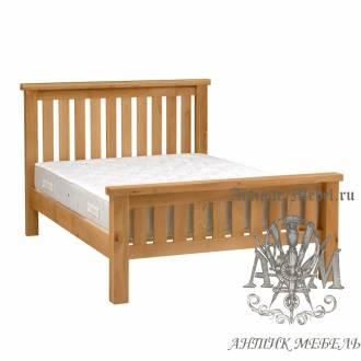 Кровать для спальни из массива дерева натурального дуба №6