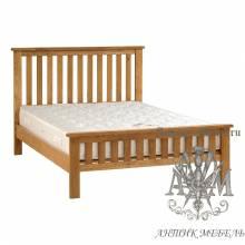 Кровать для спальни из массива дерева натурального дуба №8