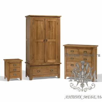 Набор мебели для спальни из массива дерева натурального дуба №1