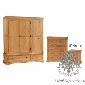 Набор мебели для спальни из массива дерева натурального дуба №3