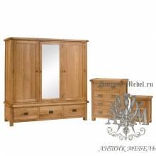 Набор мебели для спальни из массива дерева натурального дуба №4
