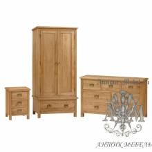 Набор мебели для спальни из массива дерева натурального дуба №7