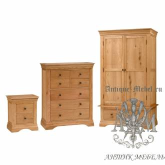 Набор мебели для спальни из массива дерева натурального дуба №8