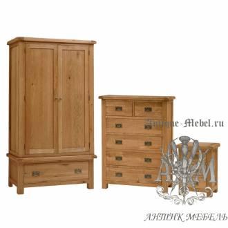 Набор мебели для спальни из массива дерева натурального дуба №9