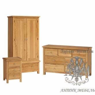 Набор мебели для спальни из массива дерева натурального дуба №11