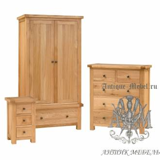 Набор мебели для спальни из массива дерева натурального дуба №12