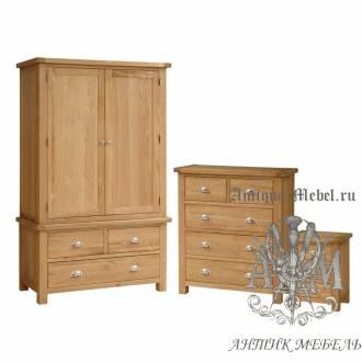 Набор мебели для спальни из массива дерева натурального дуба №13