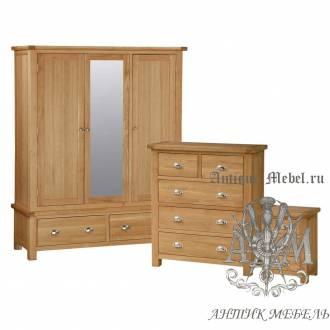 Набор мебели для спальни из массива дерева натурального дуба №14