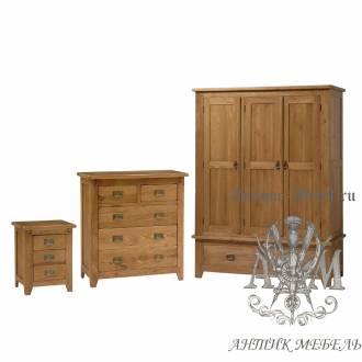 Набор мебели для спальни из массива дерева натурального дуба №17
