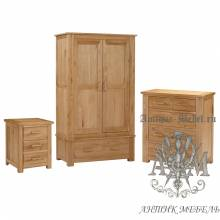 Набор мебели для спальни из массива дерева натурального дуба №19