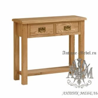 Консольный стол из массива дерева натурального дуба №1