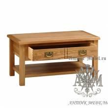 Журнальный стол из массива дерева натурального дуба №1