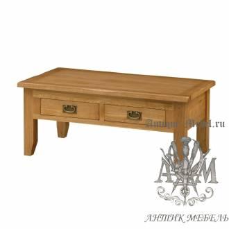 Журнальный стол из массива дерева натурального дуба №2