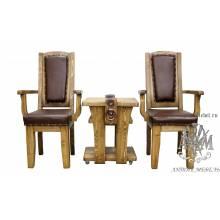 Комплект мебели под старину из массива сосны Атос