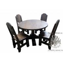 Комплект столовой мебели под старину из массива сосны Рошфор