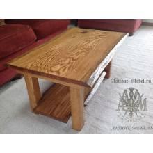 Деревянный столик журнальный Эко из слэба дуба
