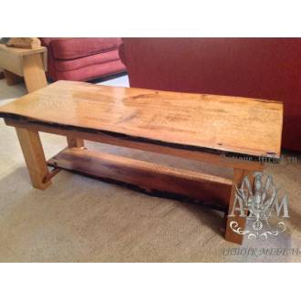 Деревянный стол журнальный Эко из слэба дерева