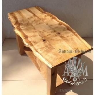 Деревянный стол Эко журнальный из спила дуба