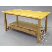 Стол деревянный Eco из спила дуба