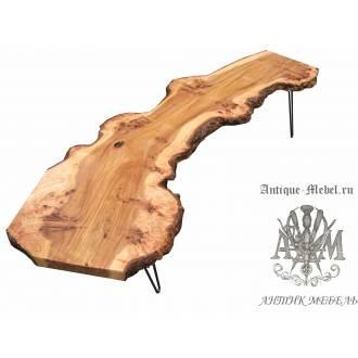 Стол Live Edge из продольного распила дерева