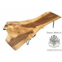 Стол Live Edge из из продольного слэба дерева