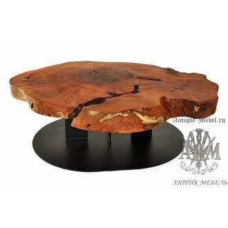 Стол Loft журнальный из слэба дерева