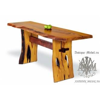 Стол консольный Eco из слэба дерева