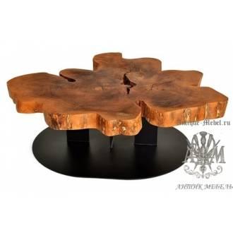 Стол Лофт журнальный из слэба дерева