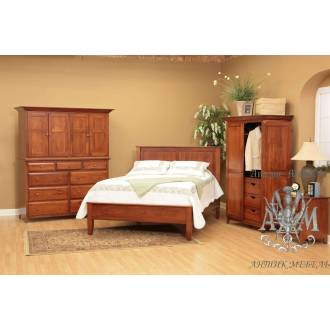 Спальный гарнитур Бернард из состаренного дерева