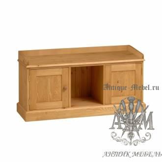 Деревянная тумба с ящиками для прихожей из массива