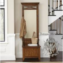 Деревянный шкаф для прихожей из массива