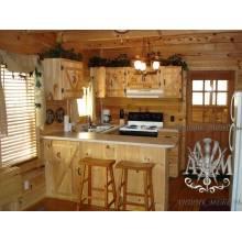 Кухонный гарнитур Мини из массива натуральной сосны