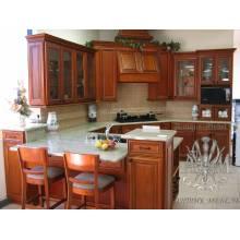 Кухонный гарнитур Угловой из массива натурального дерева