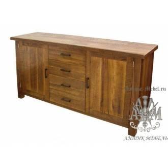 Комод деревянный состаренный из массива ясеня