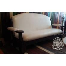 Состаренный деревянный диван из массива сосны