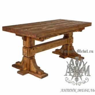 Стол из массива сосны 150х80 Волат