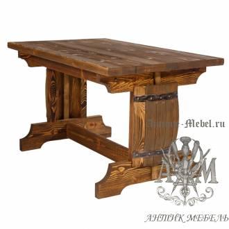 Стол из массива сосны 130х80 Полубочка