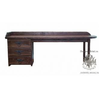 Стол письменный деревянный под старину из массива сосны