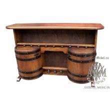 Деревянная тумба-бар из состаренной сосны