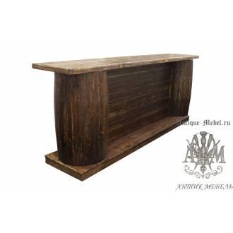 Барная стойка из дерева под старину для пивбара
