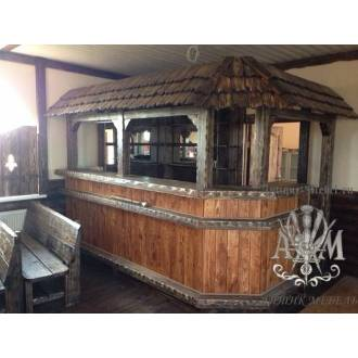 Барная стойка для кафе в кантри стиле