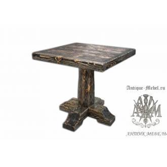 Стол состаренный из сосны Артур 70х70, квадрат