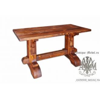 Стол состаренный из сосны Шервуд 140х70
