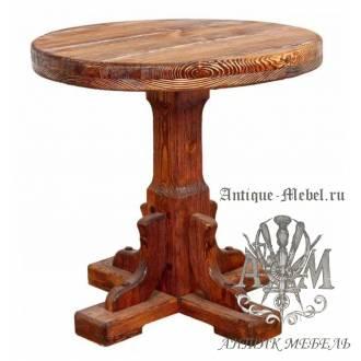 Стол состаренный из сосны Софи 70х70, круглый